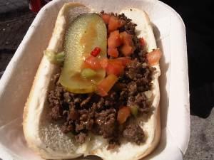 Bulgogi dog, Ursu Korean BBQ Food Cart, Georgia and Richards, Vancouver