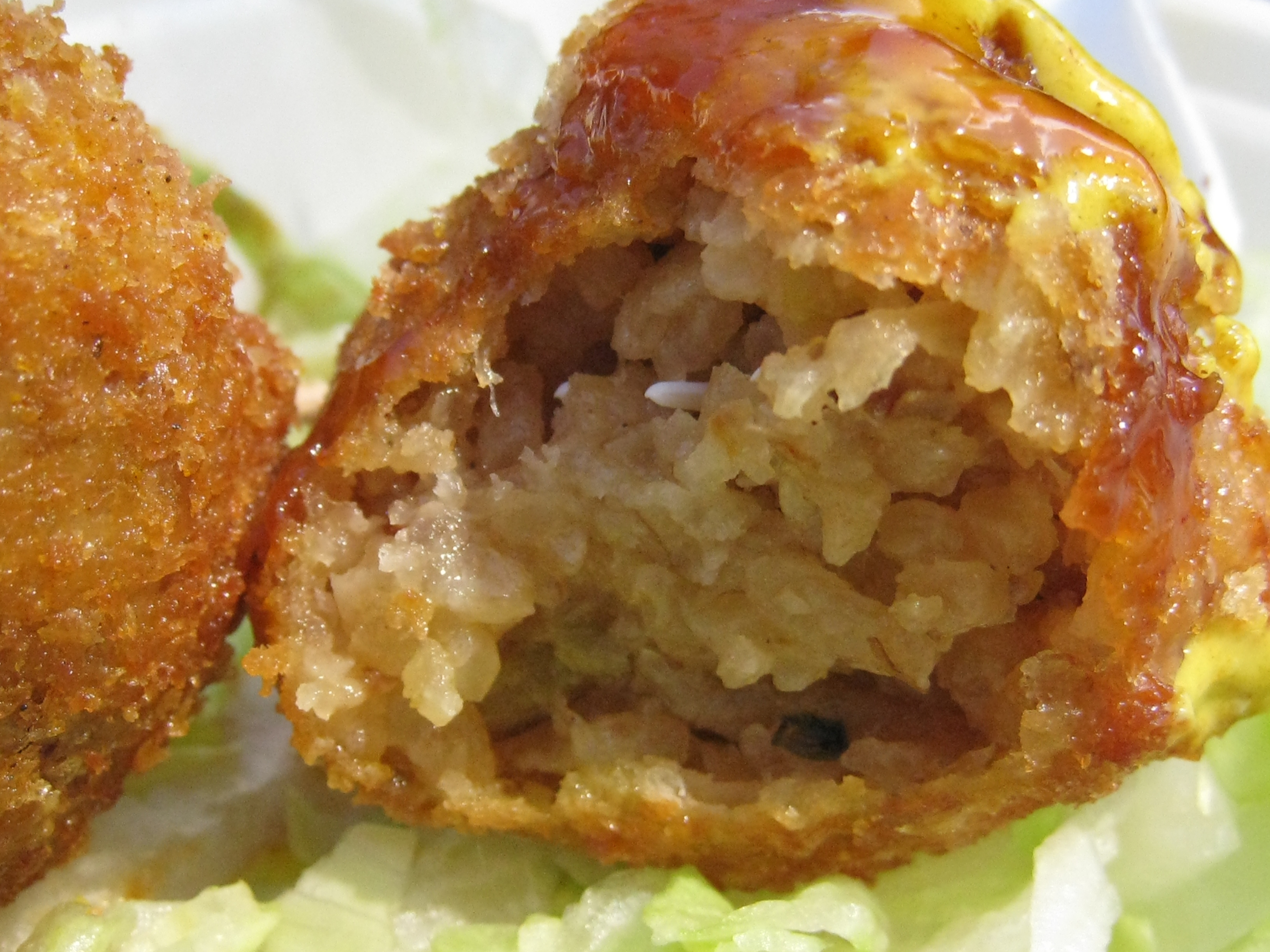 ... Dragon revisit: Fusion Fish and Chips and Addictive Fried Rice Balls